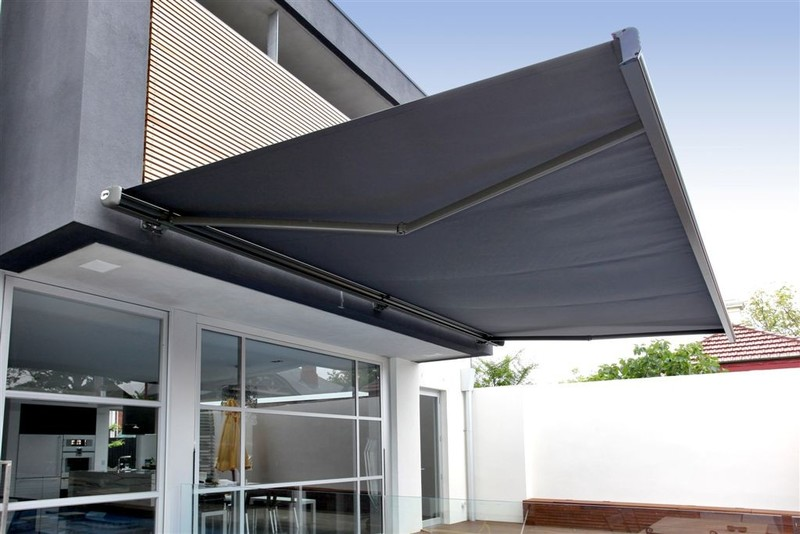 Stylist Outdoor Structures for Homes with Motorized Awnings